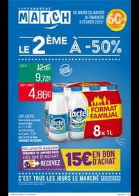 Prospectus Supermarchés Match Tourcoing Mercure : Le 2ème à -50%