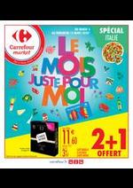 Prospectus Carrefour Market : Le mois juste pour moi spécial Italie
