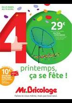 Prospectus Mr Bricolage : 40 printemps, ça se fête !