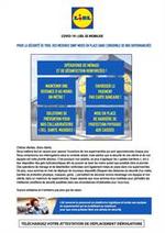 Services et infos pratiques Lidl : Avviso importante EMERGENZA COVID-19