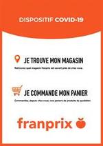 Services et infos pratiques Franprix : Dispositif COVID-19 - Je commande mon panier