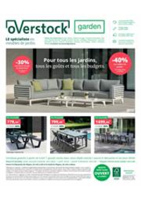 Prospectus Overstock Garden Namur : Specialiste en meubles de jardin