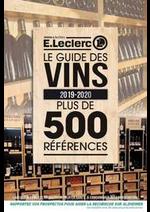 Prospectus E.Leclerc : Le guide des vins 2019-2020