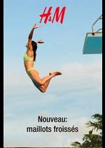 Catalogues et collections H&M : Nouveau - maillots froissés