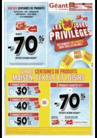 Prospectus Géant Casino PONTARLIER : Les 30 jours privilèges