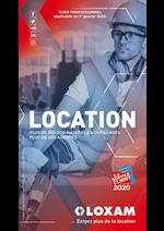 Services et infos pratiques Loxam : Tarif Professionnel 2020
