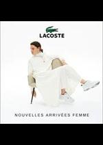 Prospectus Lacoste : NOUVELLES ARRIVEES FEMME