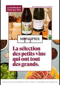 Prospectus Monoprix SAINT GERMAIN EN LAYE : La sélection des petits vins qui ont tout des grands.