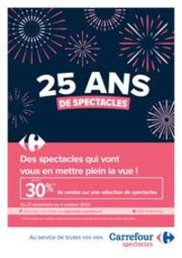 Prospectus Carrefour BOURGES : 25 ans de spectacle