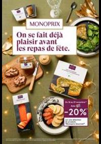 Prospectus Monoprix : On se fait déjà plaisir avant les repas de fête.