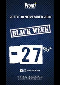 Promos et remises Pronti Bruxelles Neuve : Offre Pronti Black Friday