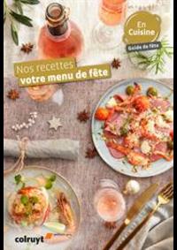Prospectus Colruyt ANDERLECHT - VEEWEYDE : Nos recettes votre menu de fête