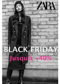 Catalogues et collections ZARA AUBERVILLERS : Jusqu'a 40% Zara Black Friday