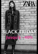 Catalogues et collections ZARA : Jusqu'a 40% Zara Black Friday