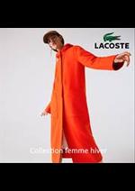 Prospectus Lacoste : Collection femme hiver