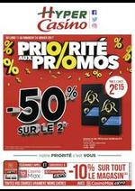 Prospectus Supermarchés Casino : Priorité aux promos