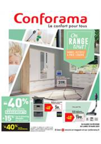 Promos et remises Conforama : On RANGE tout !