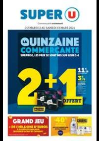 Prospectus Super U AMPHION LES BAINS : LA QUINZAINE COMMERÇANTE
