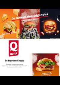 Prospectus Quick PARIS 23 Place de la République : Le Retour des Légendes