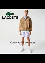 Catalogues et collections Lacoste : Nouveautés hommes