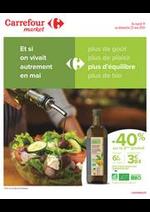 Prospectus Carrefour Market : Et si on vivait autrement en mai