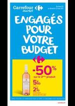 Prospectus Carrefour Market : Engagés pour votre budget