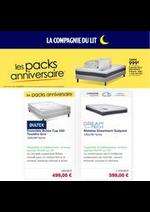 Prospectus La Compagnie du lit : Les packs aniversaire