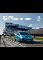 Promos et remises  : Renault Zoe E-Tech Electrique