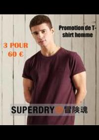 Prospectus Superdry Boulogne-Billancourt : Promotion de T-shirt homme