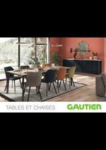 Prospectus Gautier : Tables et Chaises 2021