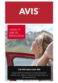 Prospectus AVIS - Le Bourget - ville : Offres