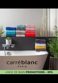 Prospectus Carré blanc Paris LE HAVRE : LINGE DE BAIN PROMOTIONS – 20%