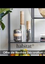 Prospectus Habitat : Offre de Rentrée Décoration