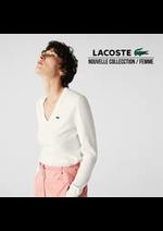 Prospectus Lacoste : Nouvelle Collection / Femme