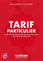 Prospectus Loxam : Tarif Particulier 2021