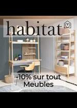 Prospectus Habitat : -10% sur tout Meubles