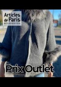 Prospectus Articles de Paris VALENCIENNES Centre Commercial Place d'Armes : Prix Outlet