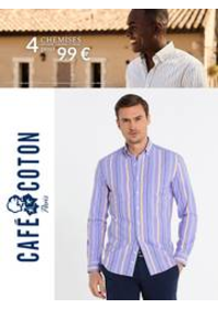 Prospectus Café Coton PARIS 8 rue de Rivoli : Café Coton 4 Chemises 99€