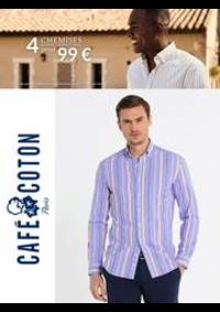 Prospectus Café Coton PARIS 30 avenue d' Italie : Café Coton 4 Chemises 99€