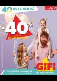 Prospectus Gifi Montigny-lès-Cormeilles : -40% Sur Tout Le Catalogue