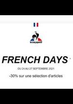 Promos et remises  : Le coq sportif French Days