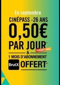 Prospectus Gaumont Pathé! Paris 50 avenue des Champs-Elysées : CinéPass