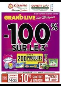 Prospectus Supermarchés Casino PARIS 352 RUE LECOURBE : Le grand live des marques