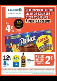 Prospectus E.Leclerc : PEU IMPORTE VOTRE LISTE DE COURSES!
