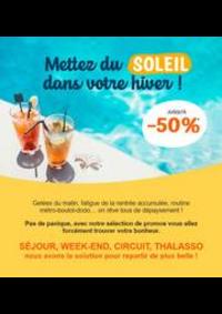 Promos et remises Prêt à partir Choisey : Vos vacances d'hiver jusqu'à -40%