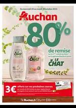 Prospectus Auchan : 80% de remise sur le 2ème produit au choix de la gamme douche et savon