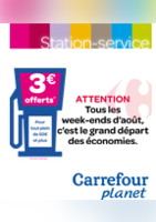 Station service 3 € offerts - Carrefour Planet